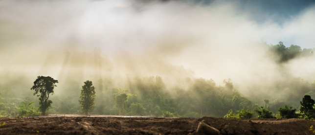 Mist on the mountain at Vang Vieng, Laos